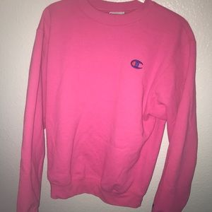 PINK CHAMPION SWEATSHIRT